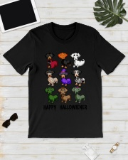 Happy Hallowiener breed of dog shirt Classic T-Shirt lifestyle-mens-crewneck-front-17