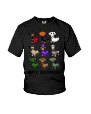 Happy Hallowiener breed of dog shirt Youth T-Shirt thumbnail