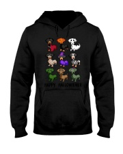 Happy Hallowiener breed of dog shirt Hooded Sweatshirt thumbnail
