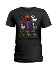 Happy Hallowiener breed of dog shirt Ladies T-Shirt thumbnail