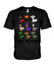 Happy Hallowiener breed of dog shirt V-Neck T-Shirt thumbnail