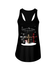 Jesus is the reason for the season cross shirt Ladies Flowy Tank tile