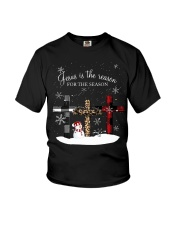 Jesus is the reason for the season cross shirt Youth T-Shirt thumbnail