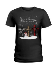 Jesus is the reason for the season cross shirt Ladies T-Shirt tile