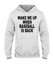 Wake me up when baseball is back T-shirt Hooded Sweatshirt thumbnail