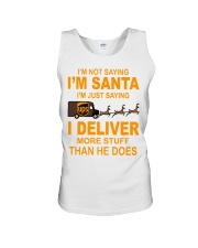 I'm not saying I'm santa UPS shirt Unisex Tank tile