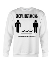 Social Distancing keep three weiners of space  Crewneck Sweatshirt thumbnail