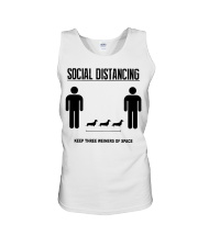 Social Distancing keep three weiners of space  Unisex Tank thumbnail