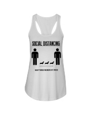 Social Distancing keep three weiners of space  Ladies Flowy Tank thumbnail