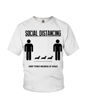 Social Distancing keep three weiners of space  Youth T-Shirt thumbnail