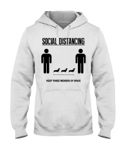 Social Distancing keep three weiners of space  Hooded Sweatshirt thumbnail