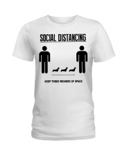 Social Distancing keep three weiners of space  Ladies T-Shirt thumbnail