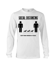Social Distancing keep three weiners of space  Long Sleeve Tee thumbnail