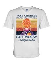 Take Chances make mistakes V-Neck T-Shirt thumbnail