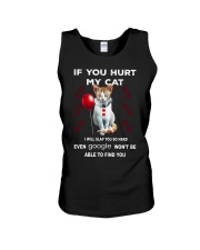 Cat Clown if you hurt my cat I will slap you hard Unisex Tank thumbnail