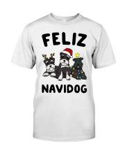 Feliz Navidog Miniature Schnauzer Christmas Classic T-Shirt thumbnail