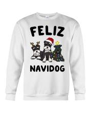 Feliz Navidog Miniature Schnauzer Christmas Crewneck Sweatshirt front