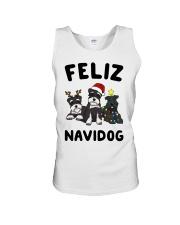 Feliz Navidog Miniature Schnauzer Christmas Unisex Tank thumbnail