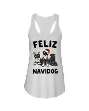Feliz Navidog Miniature Schnauzer Christmas Ladies Flowy Tank thumbnail