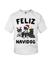 Feliz Navidog Miniature Schnauzer Christmas Youth T-Shirt thumbnail