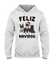 Feliz Navidog Miniature Schnauzer Christmas Hooded Sweatshirt thumbnail