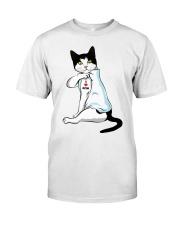 Cat Tattoo I love mom shirt Classic T-Shirt front