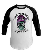 Skull Girl The Pumpkin Queen shirt Baseball Tee thumbnail