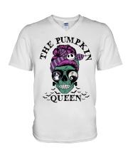 Skull Girl The Pumpkin Queen shirt V-Neck T-Shirt thumbnail