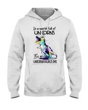 A World Full Of Unicorns Be A Unicornasaurus Rex Hooded Sweatshirt thumbnail