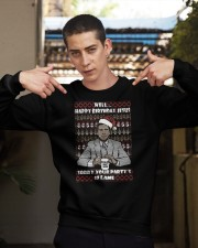 Michael Scott Well Happy Birthday Jesus Christmas Crewneck Sweatshirt apparel-crewneck-sweatshirt-lifestyle-04