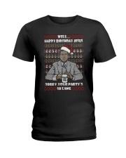 Michael Scott Well Happy Birthday Jesus Christmas Ladies T-Shirt thumbnail