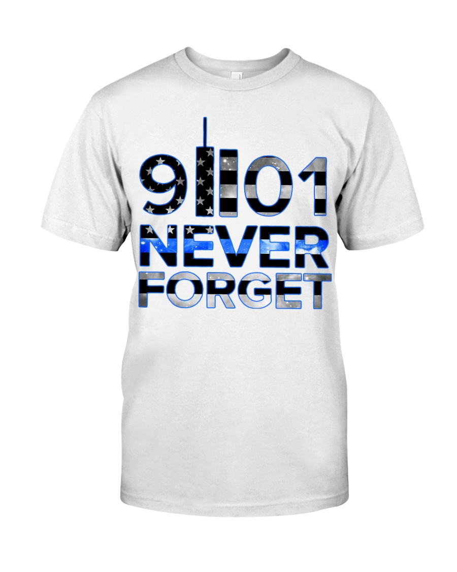 Back the Blue 9II01 Never Forget American Fla Classic T-Shirt
