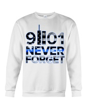 Back the Blue 9II01 Never Forget American Fla Crewneck Sweatshirt thumbnail
