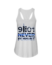 Back the Blue 9II01 Never Forget American Fla Ladies Flowy Tank thumbnail