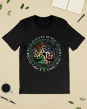 Irish by blood patriot by choice American Tree  Classic T-Shirt lifestyle-mens-crewneck-front-19