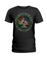 Irish by blood patriot by choice American Tree  Ladies T-Shirt thumbnail