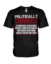 Politically Correct a term used to describe- V-Neck T-Shirt thumbnail