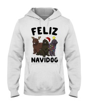 Feliz Navidog Newfoundland Christmas shirt Hooded Sweatshirt thumbnail