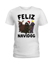 Feliz Navidog Newfoundland Christmas shirt Ladies T-Shirt thumbnail