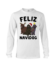 Feliz Navidog Newfoundland Christmas shirt Long Sleeve Tee tile