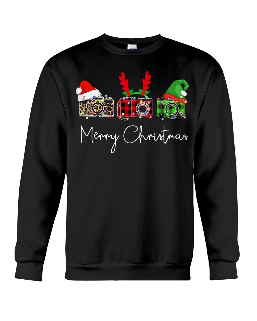Photographer plaid Merry Christmas Crewneck Sweatshirt