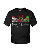 Photographer plaid Merry Christmas Youth T-Shirt thumbnail