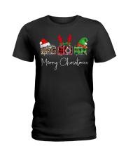Photographer plaid Merry Christmas Ladies T-Shirt thumbnail