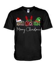Photographer plaid Merry Christmas V-Neck T-Shirt thumbnail