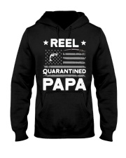 Fishing Reel quarantined Papa shirt Hooded Sweatshirt thumbnail