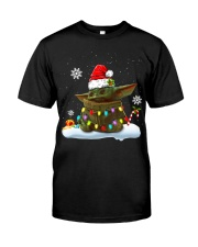Baby Yoda Merry Christmas shirt Classic T-Shirt front