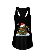 Baby Yoda Merry Christmas shirt Ladies Flowy Tank tile