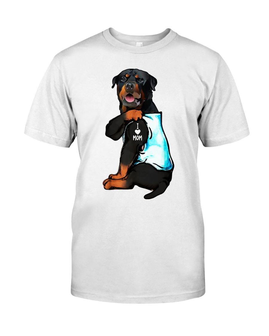 Rottweiler tattoo I Love Mom shirt Classic T-Shirt