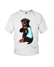 Rottweiler tattoo I Love Mom shirt Youth T-Shirt thumbnail