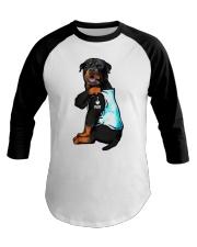 Rottweiler tattoo I Love Mom shirt Baseball Tee thumbnail